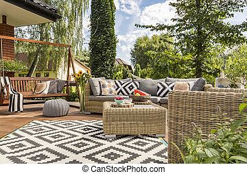 New villa patio idea - New design villa patio with ...