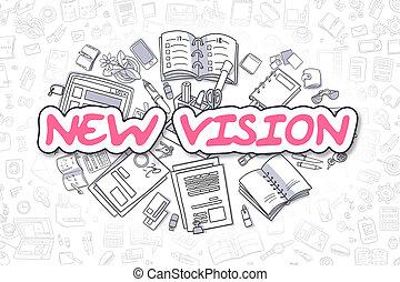 New Vision - Doodle Magenta Inscription.