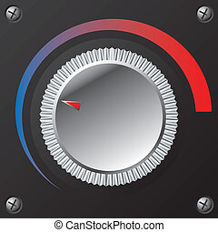 New volume knob with color loudness meter