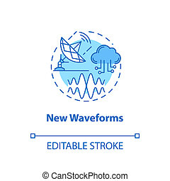 New waveforms concept icon. Global coverege. 5G technologies...