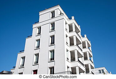 New white apartment building