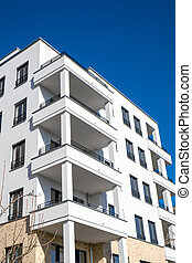 New white apartment house