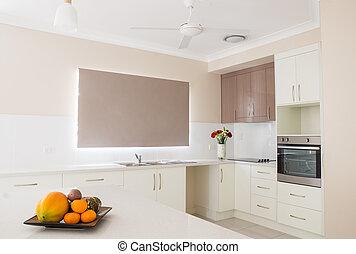 New white contemporary kitchen