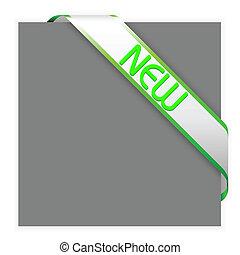 New white corner ribbon