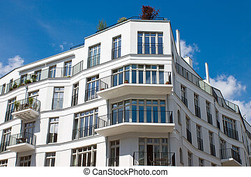 A new white townhouse seen in Berlin
