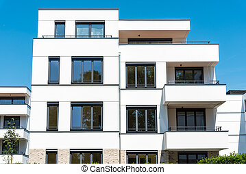 New white townhouses seen in Berlin