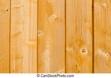 New Natural Wood Fence with knots