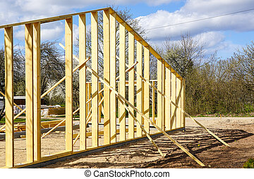 new wooden barn post and beam construction
