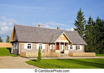 new wooden country house for tourists