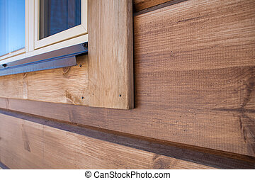 New wooden house detail