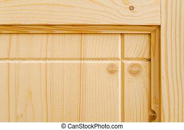 new woodwork. part of a wood door