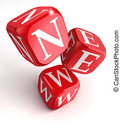 new word on red box dice
