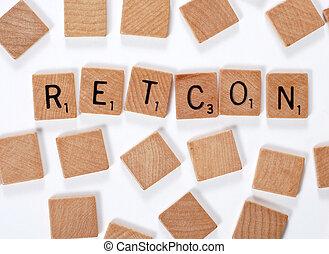 New word : retcon