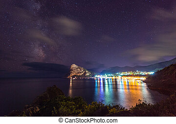 New world at night. Crimea, Ukraine