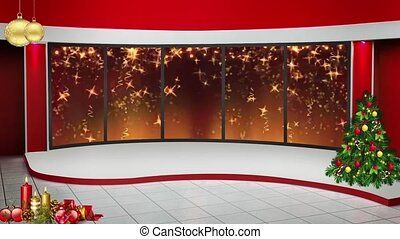 new year 03 tv studio set virtual green screen background loop
