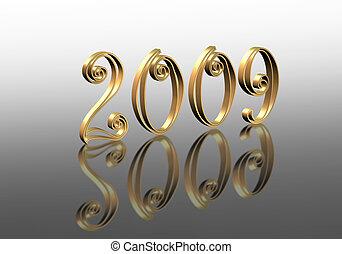 New Year 2009 graphic