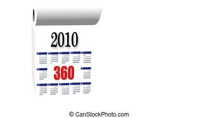 New Year 2010-2011 calendar, white