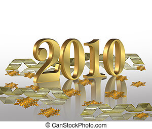 New Year 2010 Party invitation
