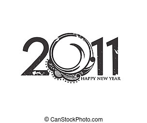 new year 2011 background - new year 2011 in white...