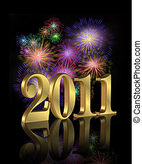 New Year 2011 fireworks