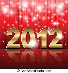 New Year 2012 background, vector illustration.