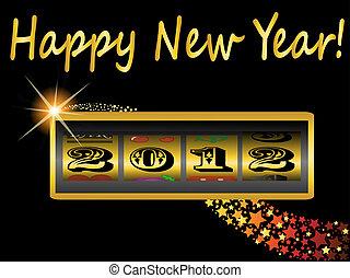 new year 2012 in slot machine