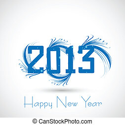 new year 2013  artistic vector whit background
