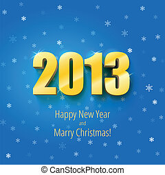 New year 2013 background gold numbers