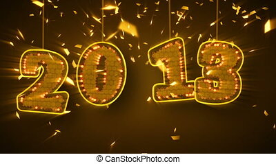 new year 2013 celebration confetti