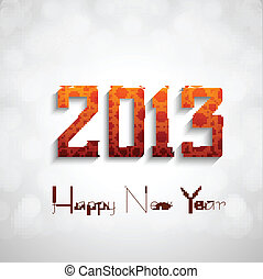 New year 2013 circle white background Vector