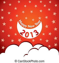new year 2013 design with star