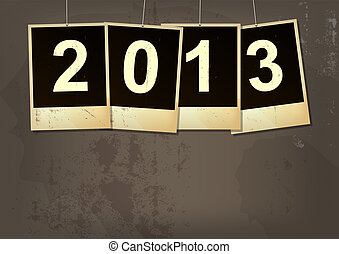 new year 2013 grunge background