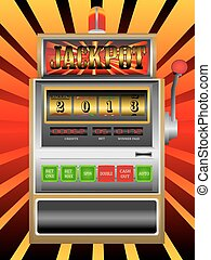 new year 2013 in slot machine vector illustration