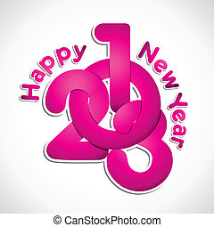new year 2013 pink design stock v