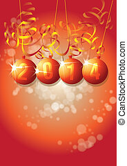 New Year 2014 - A New Year themed image on a portrait format...