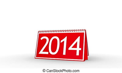 New Year 2014 Calendar (with Matte) - Calendar turning page...
