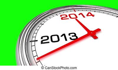 New Year 2014 Clock (Green Screen) - Clock countdown from...