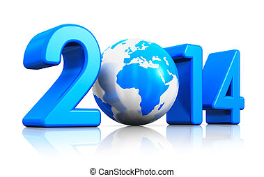 New Year 2014 concept - Creative New Year 2014 beginning...