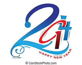 New Year 2014 Design Vector
