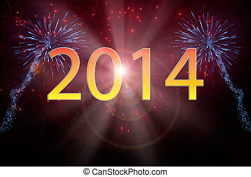 New Year 2014 fireworks