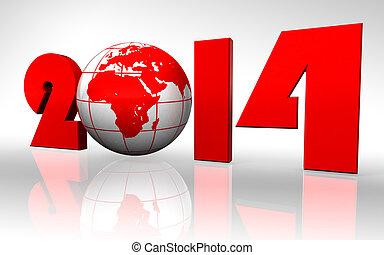 new year 2014 globe