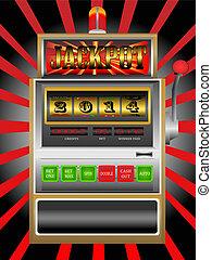 new year 2014 in slot machine vecto