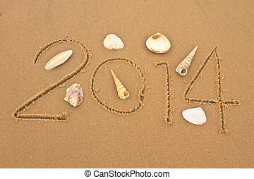 New year 2014 with shells