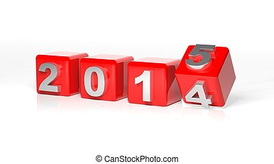 New year 2015 3d cubes