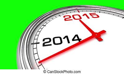 New Year 2015 Clock (Green Screen) - Clock countdown from...