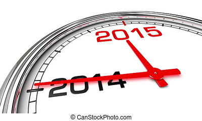 New Year 2015 Clock (with Matte) - Clock countdown from year...