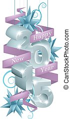 New year 2015 decorations