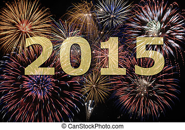 new year 2015 - fireworks at new year`s eve 2015
