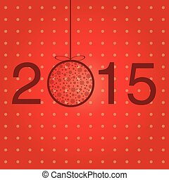 New year 2015 greeting template