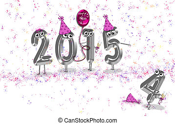 new year 2015 humor - Humorous 2015 New Year with party...